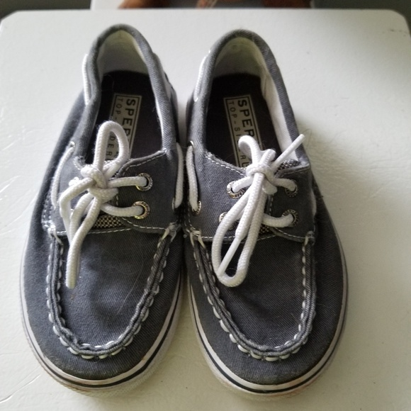 Sperry Other - BOYS GRAY FABRIC SPERRY SHOES EUC SZ 9